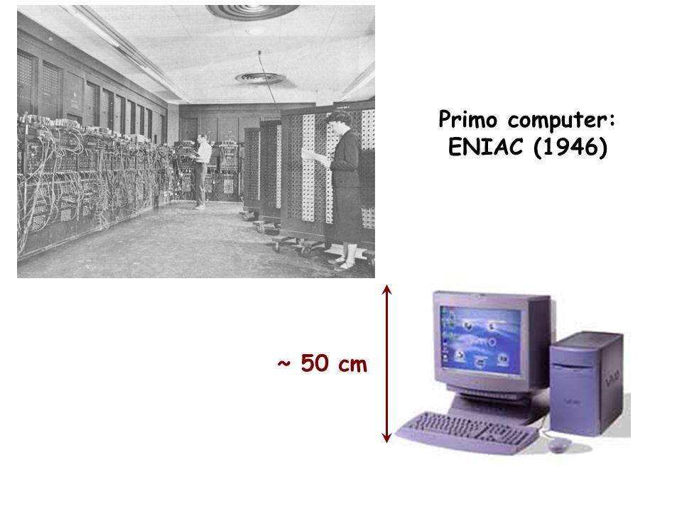 Primo computer: ENIAC (1946) ~ 50 cm