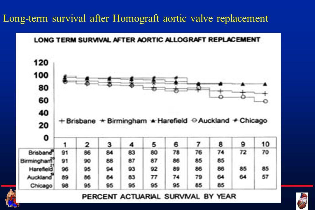 Cattedra di Cardiochirurgia UNIVERSITA DEGLI STUDI DI FIRENZE Long-term survival after Homograft aortic valve replacement