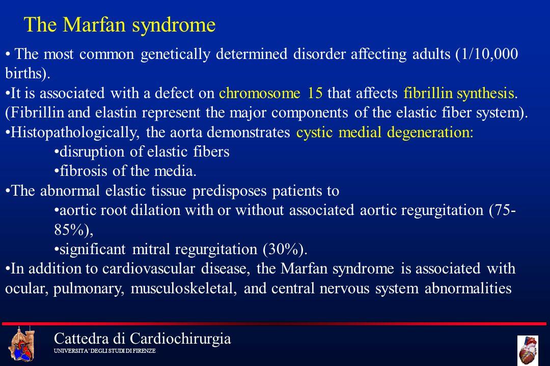 Cattedra di Cardiochirurgia UNIVERSITA DEGLI STUDI DI FIRENZE The most common genetically determined disorder affecting adults (1/10,000 births). It i