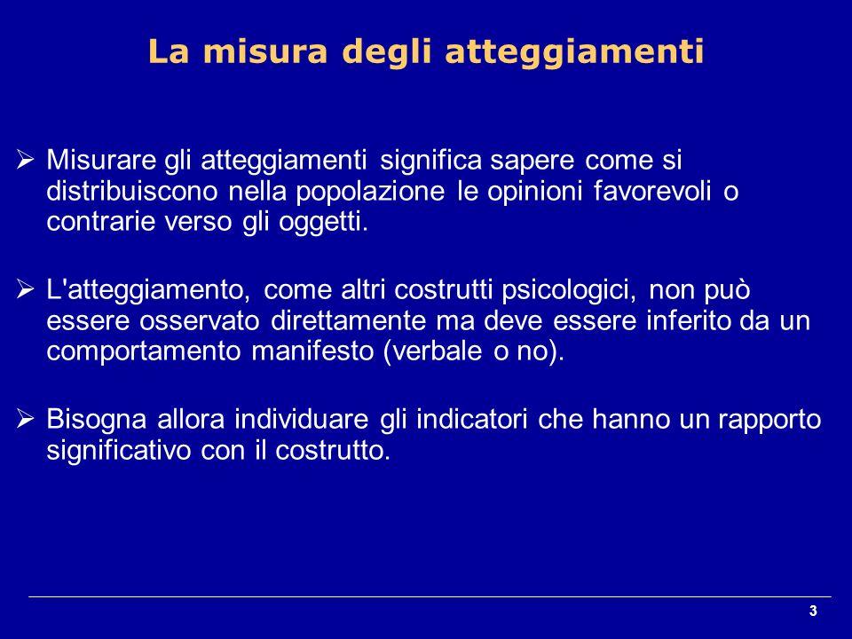 4 Autodescrizioni (self-report) di credenze, sentimenti e comportamenti (risposte libere, espressioni di accordo/disaccordo con item standardizzati).