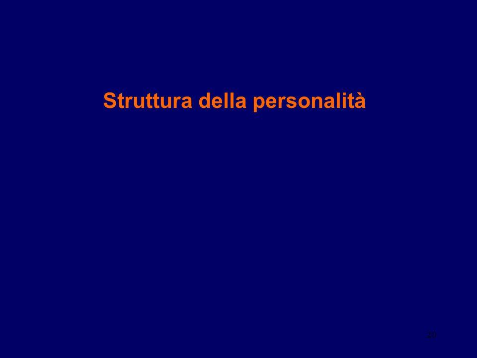 20 Struttura della personalità