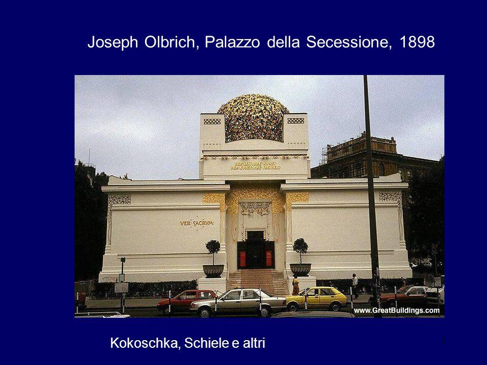 3 Joseph Olbrich, Palazzo della Secessione, 1898 Kokoschka, Schiele e altri
