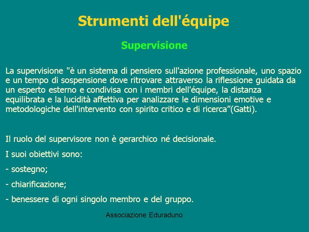 Associazione Eduraduno Supervisione La supervisione