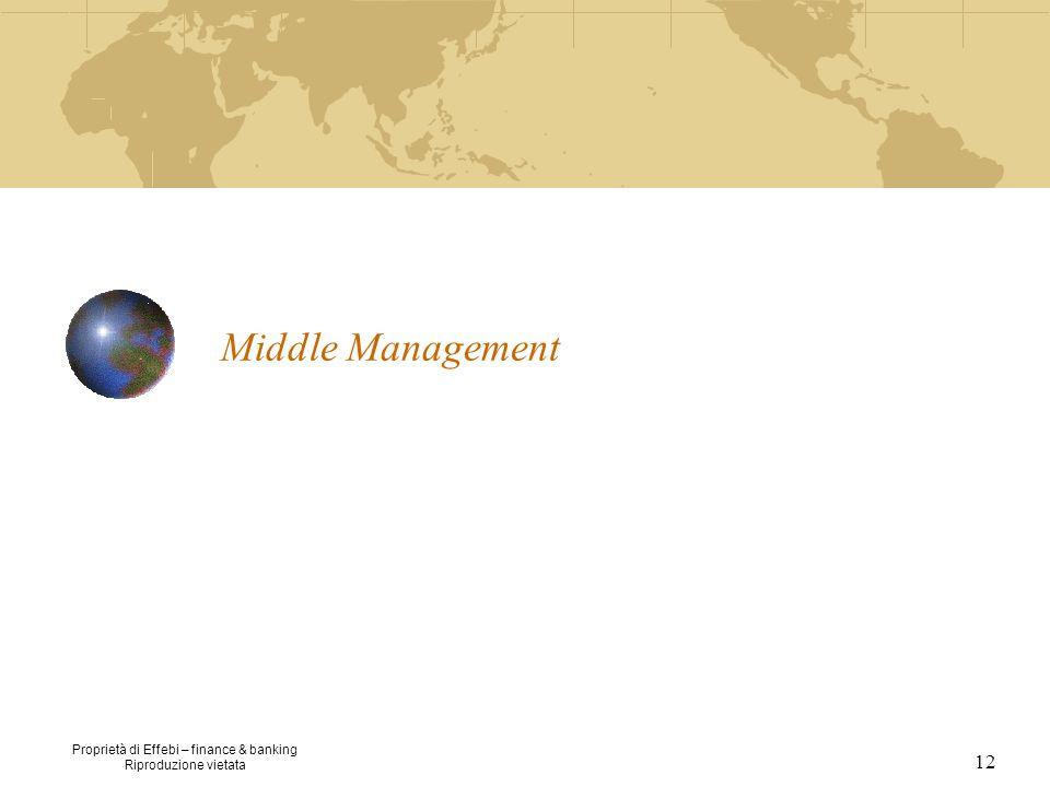 Proprietà di Effebi – finance & banking Riproduzione vietata 12 Middle Management
