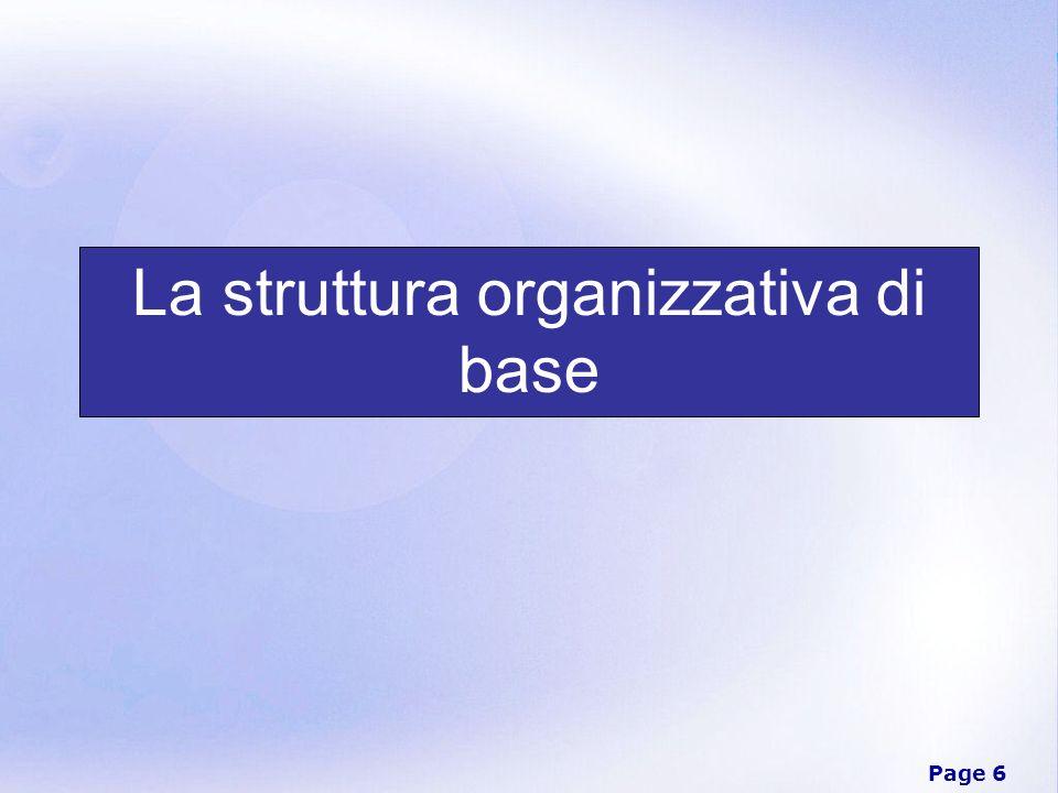 Page 7 Organizzazione Complesso delle modalità secondo le quali viene effettuata la divisione del lavoro in compiti distinti ed anche realizzato il coordinamento fra tali compiti.