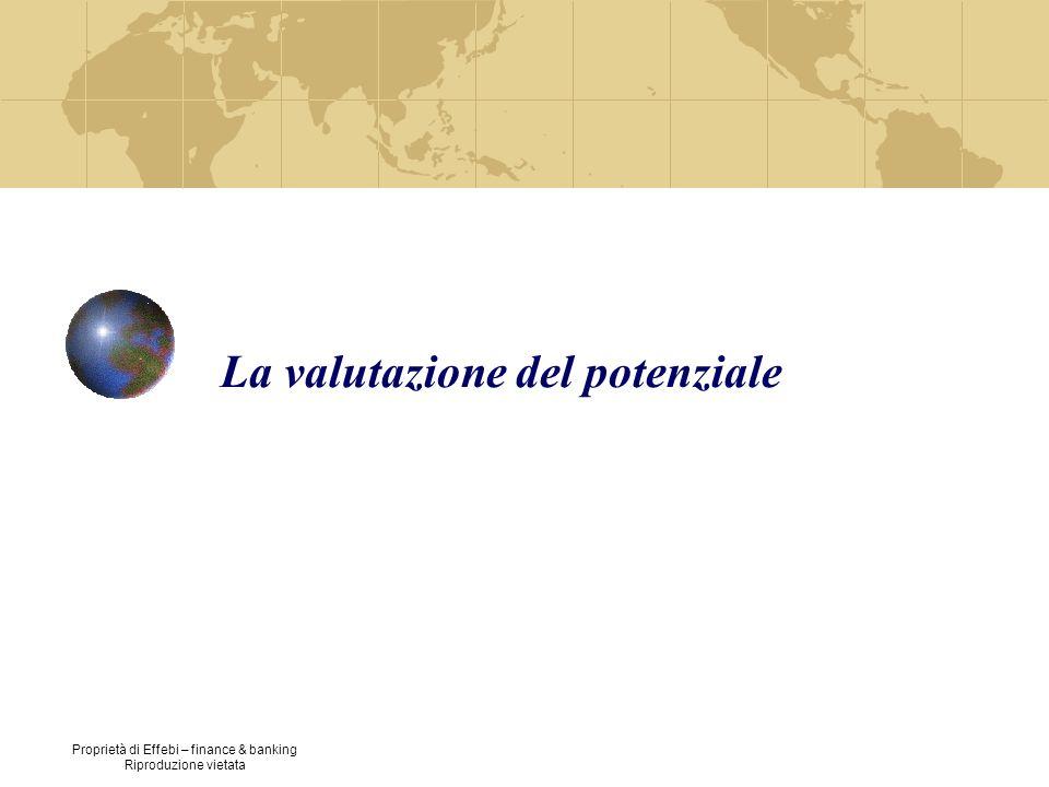 Proprietà di Effebi – finance & banking Riproduzione vietata La valutazione del potenziale