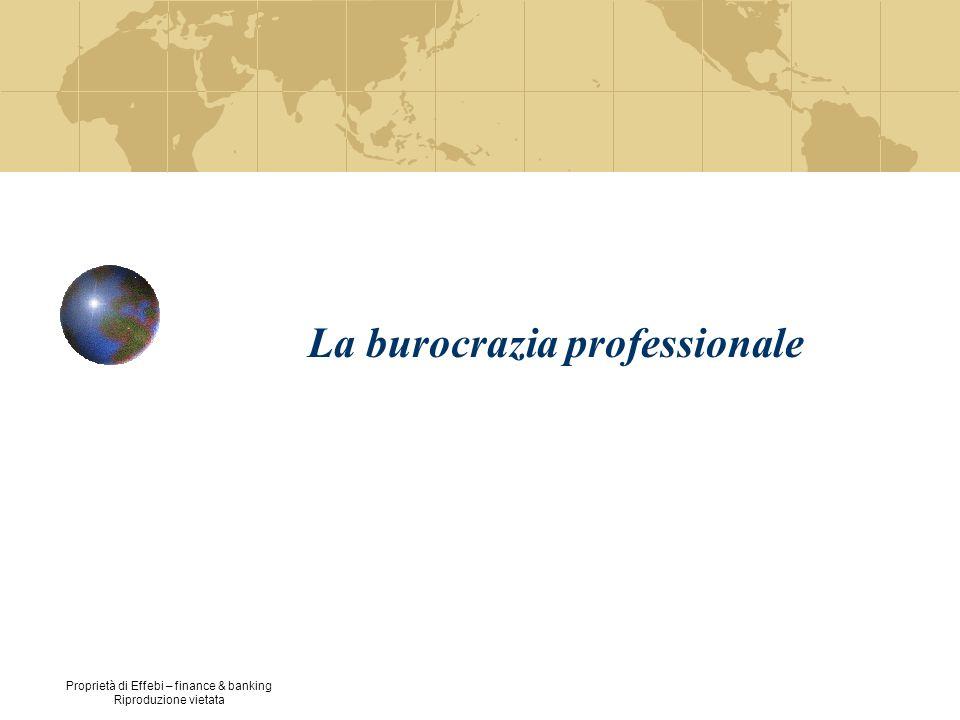 Proprietà di Effebi – finance & banking Riproduzione vietata La burocrazia professionale