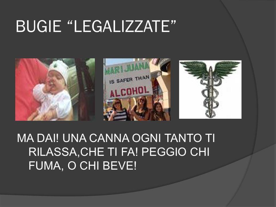BUGIE LEGALIZZATE MA DAI! UNA CANNA OGNI TANTO TI RILASSA,CHE TI FA! PEGGIO CHI FUMA, O CHI BEVE!