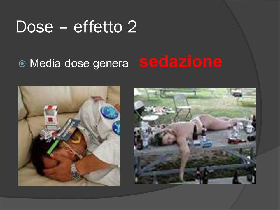 Dose – effetto 2 Media dose genera sedazione
