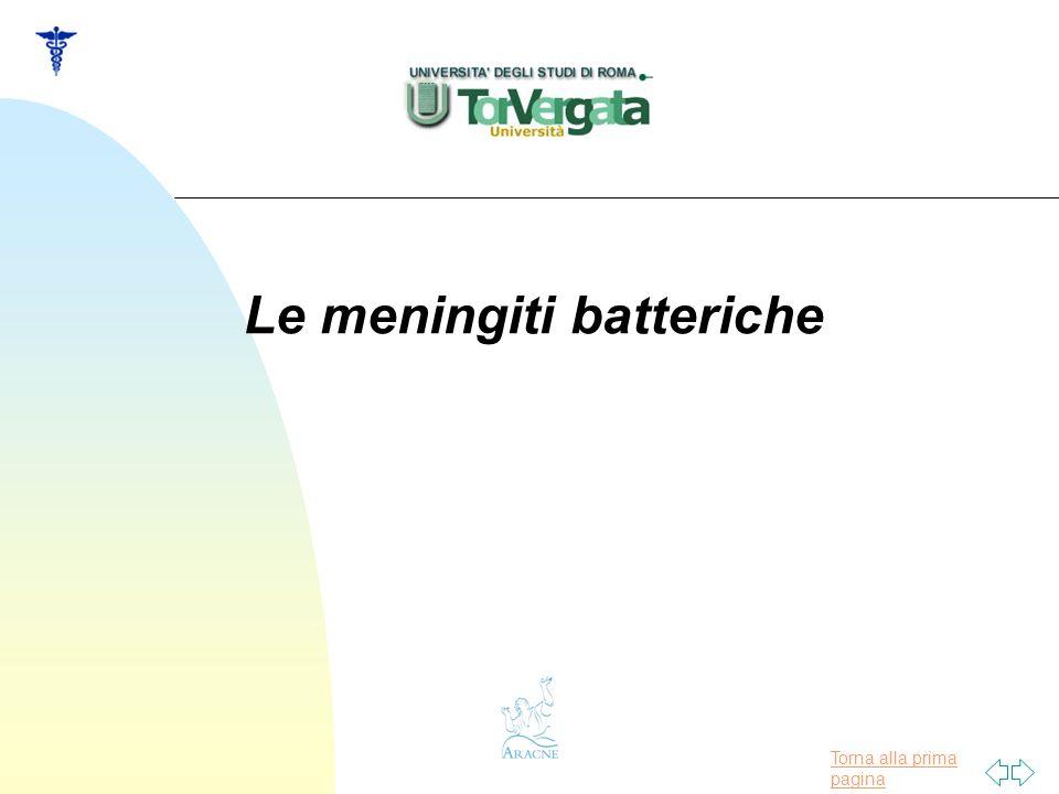 Torna alla prima pagina Le meningiti batteriche