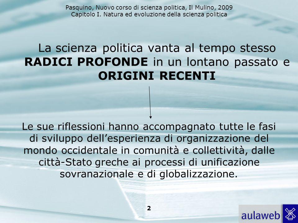 Pasquino, Nuovo corso di scienza politica, Il Mulino, 2009 Capitolo I.