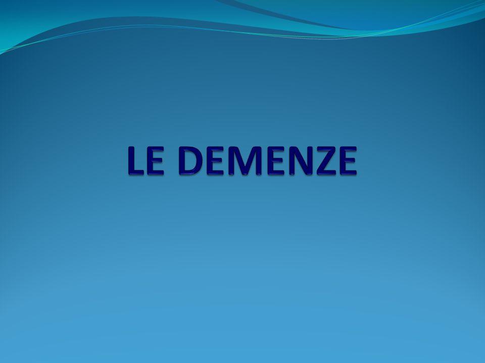 D EMENZA FRONTO - TEMPORALE : Q UADRI CLINICI La DFT insorge generalmente nel presenio (prima dei 65 anni).