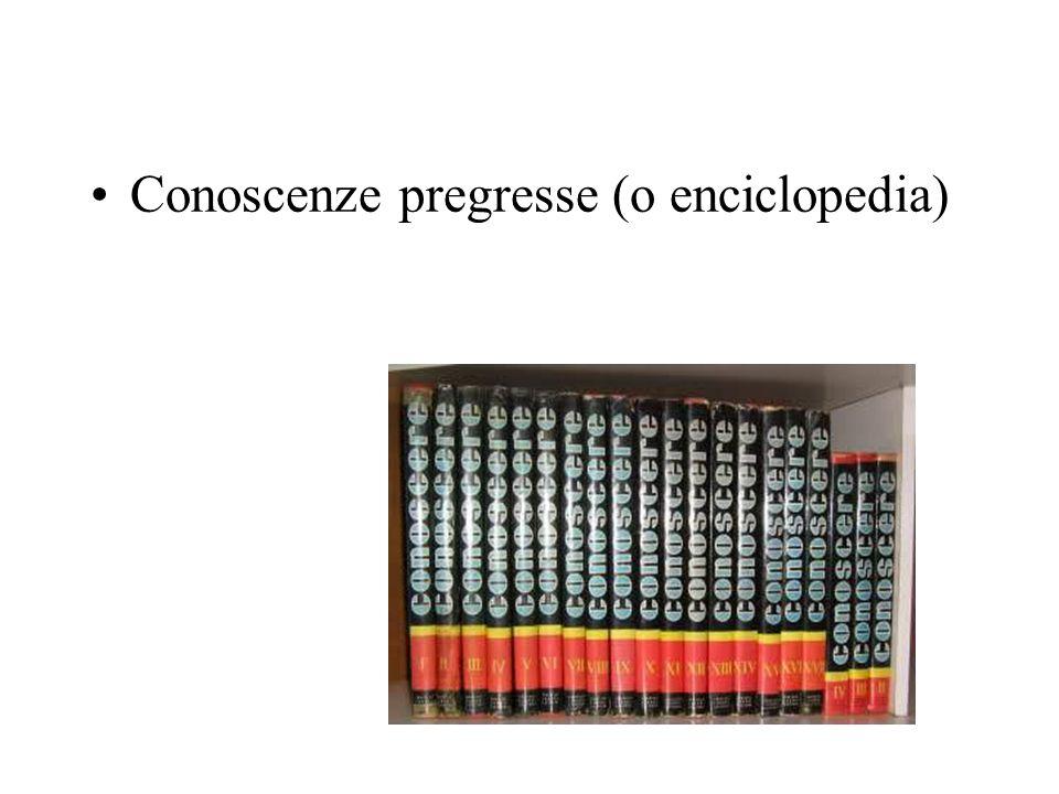 Conoscenze pregresse (o enciclopedia)
