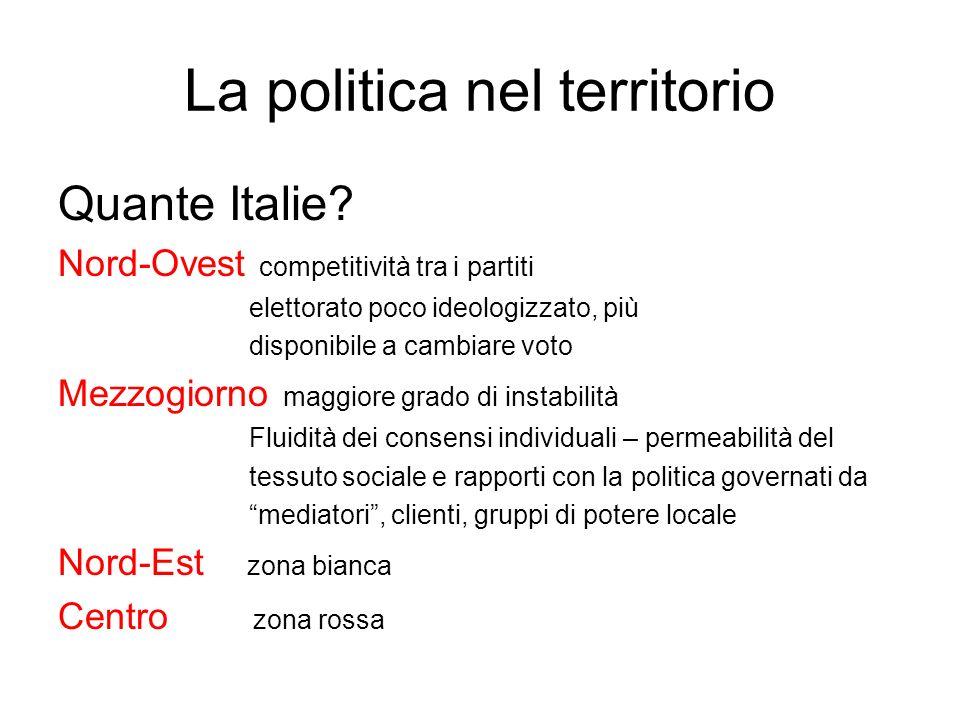 La politica nel territorio Quante Italie.
