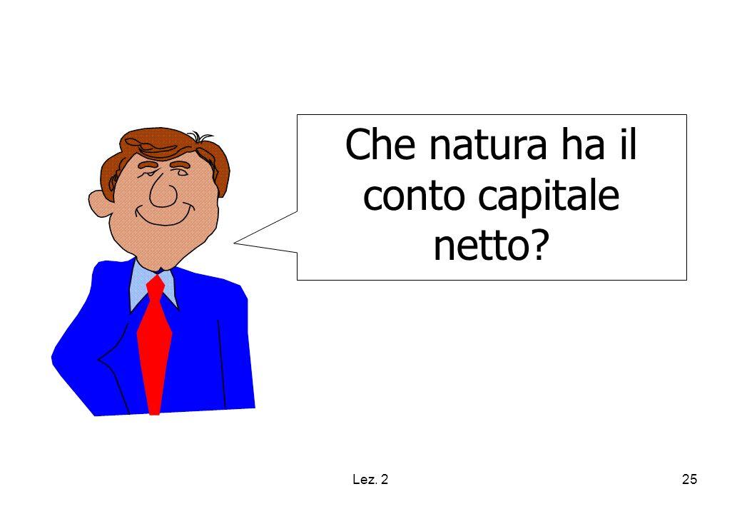 Lez. 225 Che natura ha il conto capitale netto?