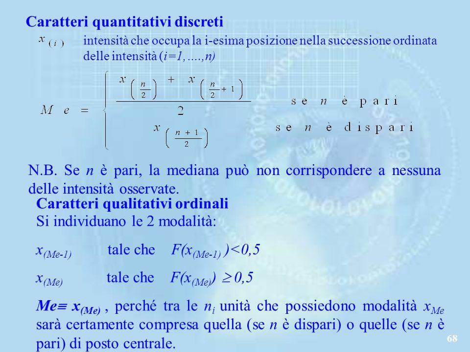 68 Caratteri quantitativi discreti N.B.
