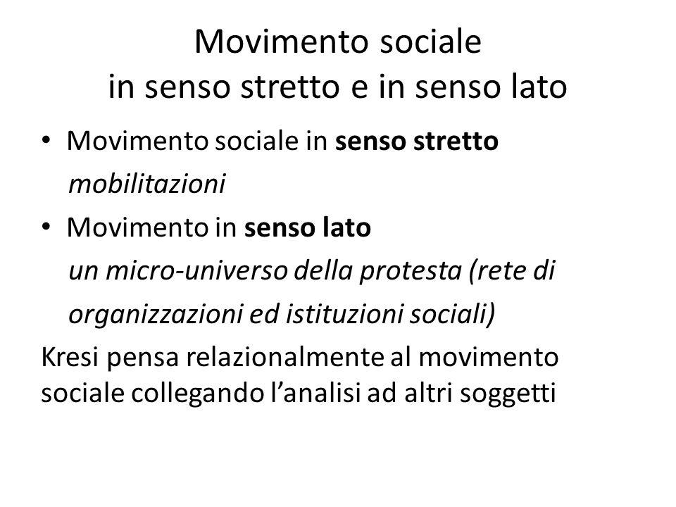 Pensare relazionalmente i movimenti sociali Per lindividuo che esprime motivazioni sociali di scontento, in quale reticolo di alternative sinscrive la scelta della mobilitazione.