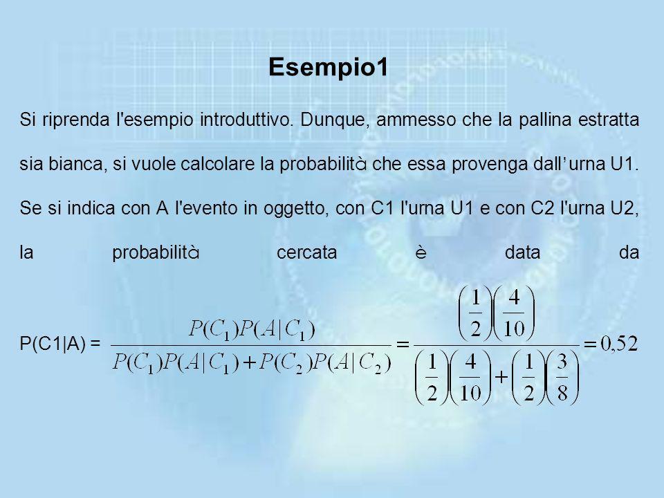La formula (1.11) va sotto il nome di formula di Bayes (dal nome dell'ecclesiastico Thomas Bayes, 1702-1761, che la introdusse). È opportuno ribadire