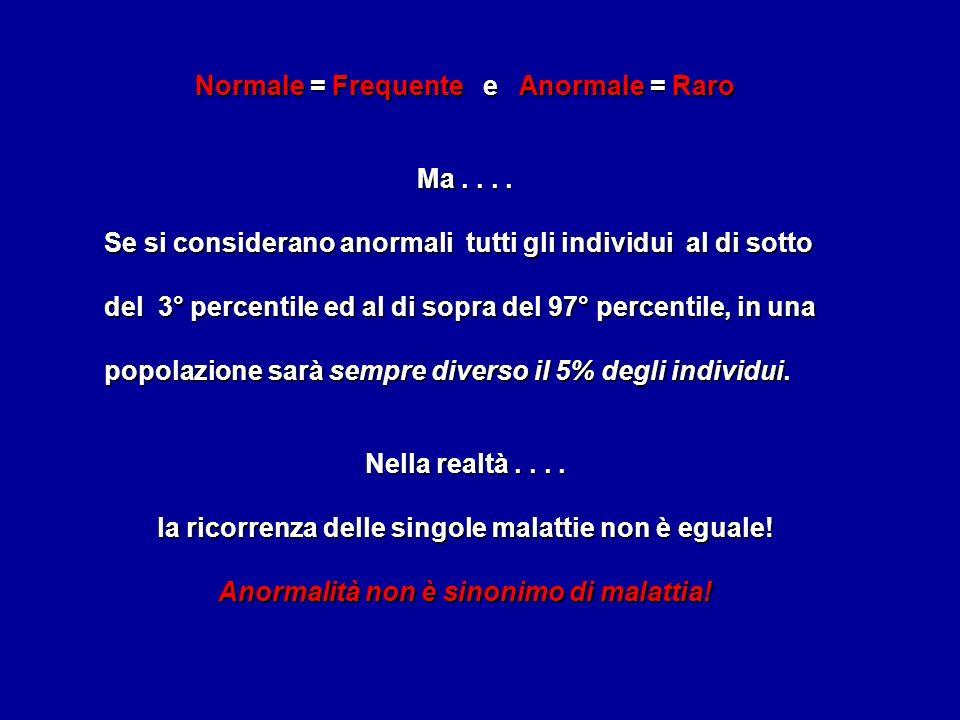 Normale = Frequente e Anormale = Raro Ma....