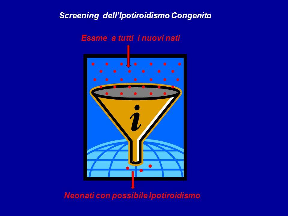 Screening dellIpotiroidismo Congenito Esame a tutti i nuovi nati Neonati con possibile Ipotiroidismo