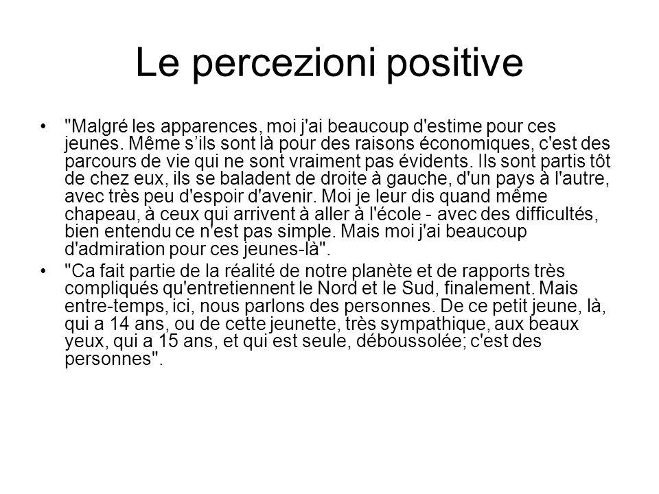 Le percezioni positive