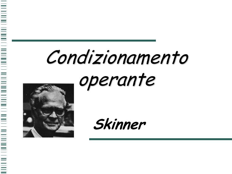 Condizionamento operante Skinner