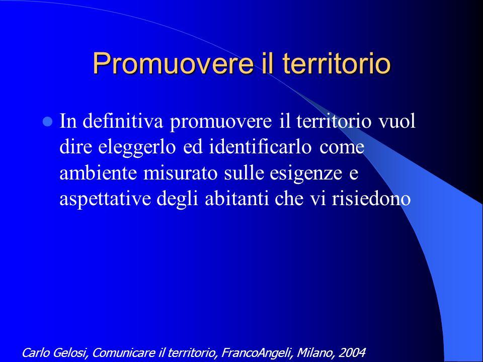 Il ruolo della comunicazione Promuovere allesterno limmagine del territorio Coinvolgere i cittadini nelle scelte relative alle trasformazioni territoriali
