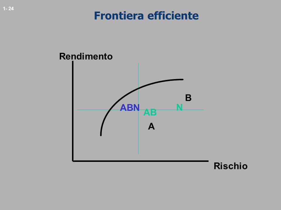 1- 24 Frontiera efficiente Rendimento Rischio A B N AB ABN