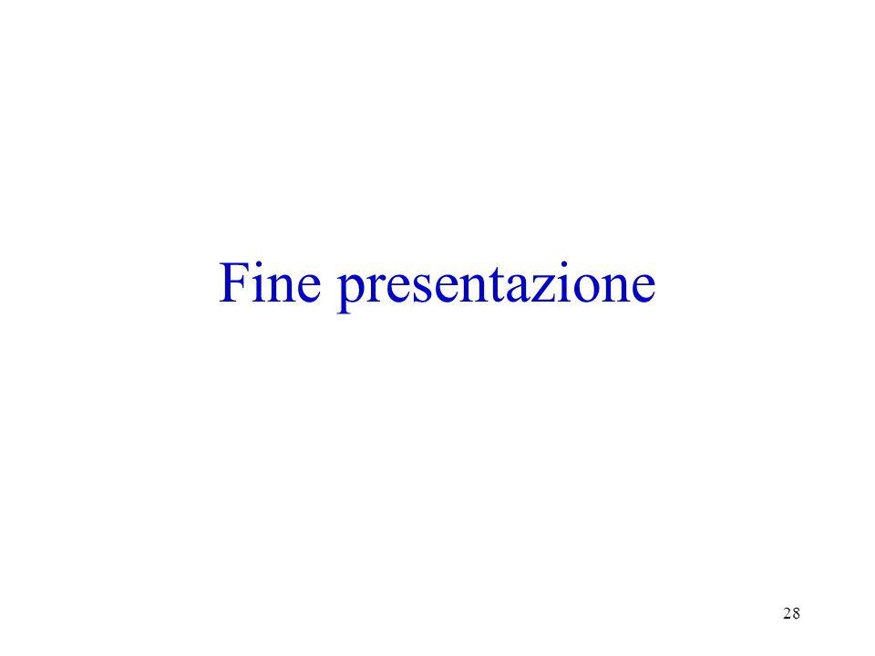 28 Fine presentazione