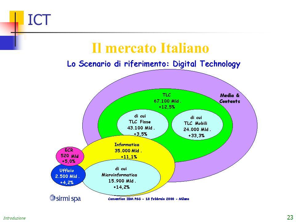 Introduzione 23 ICT Il mercato Italiano