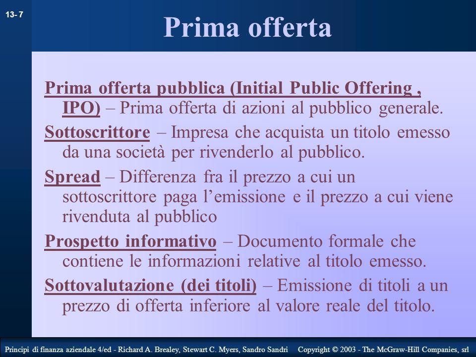 13- 8 Principi di finanza aziendale 4/ed - Richard A.