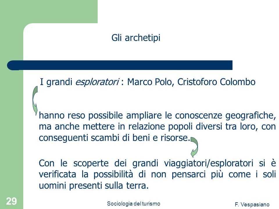F. Vespasiano Sociologia del turismo 29 hanno reso possibile ampliare le conoscenze geografiche, ma anche mettere in relazione popoli diversi tra loro