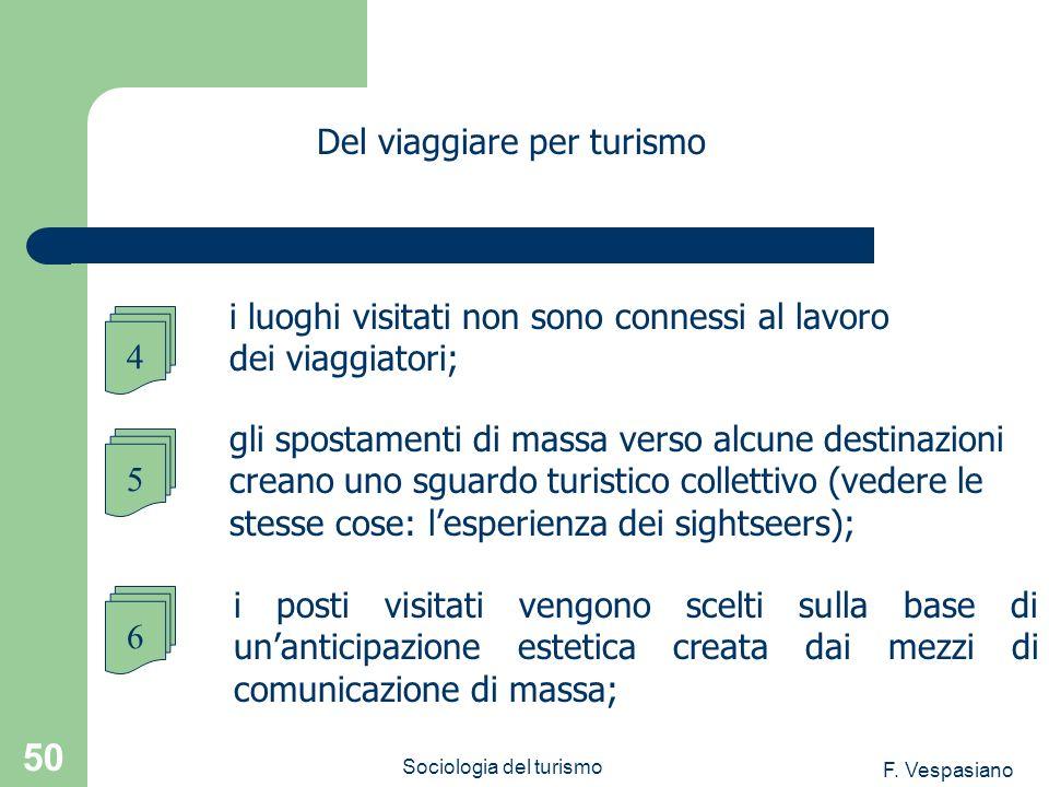 F. Vespasiano Sociologia del turismo 50 i posti visitati vengono scelti sulla base di unanticipazione estetica creata dai mezzi di comunicazione di ma