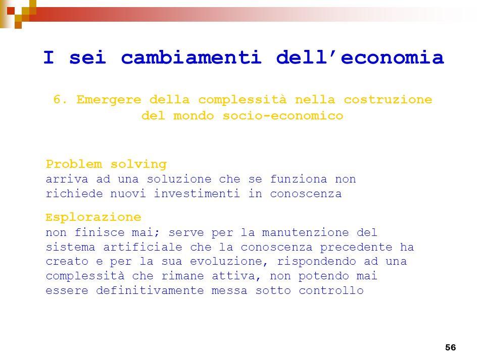 57 III PARTE 1.Economia della conoscenza: un modello a 3D 2.