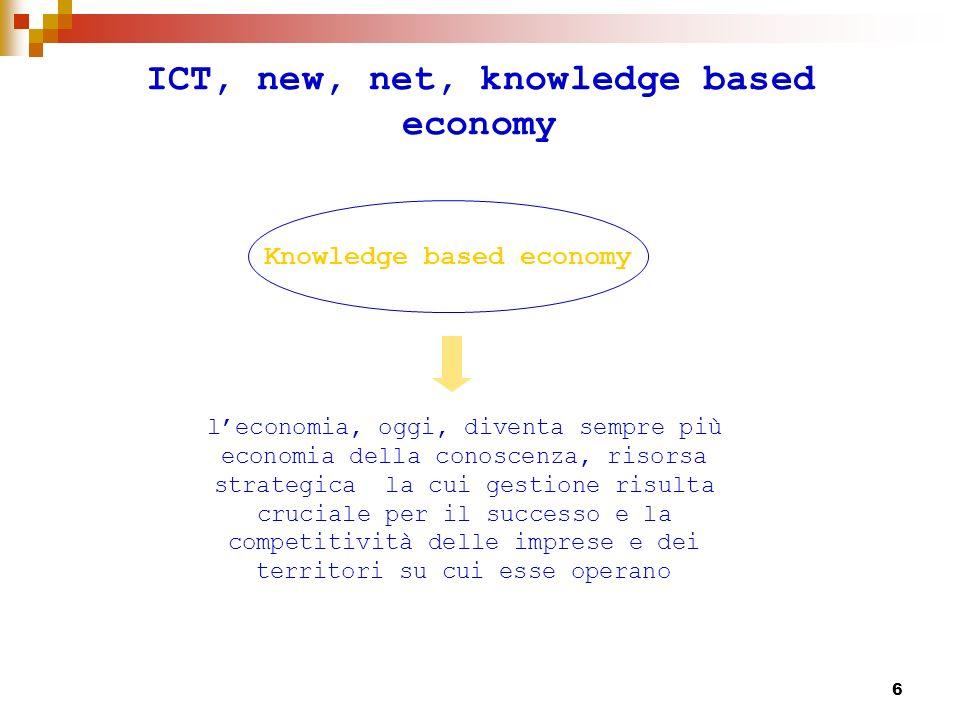 7 Conoscenza e informazione La conoscenza è un insieme di esposizioni di fatti o idee, presentendo un giudizio ragionato o un risultato sperimentale, trasmesso agli altri attraverso un determinato mezzo di comunicazione in una certa forma sintetica.