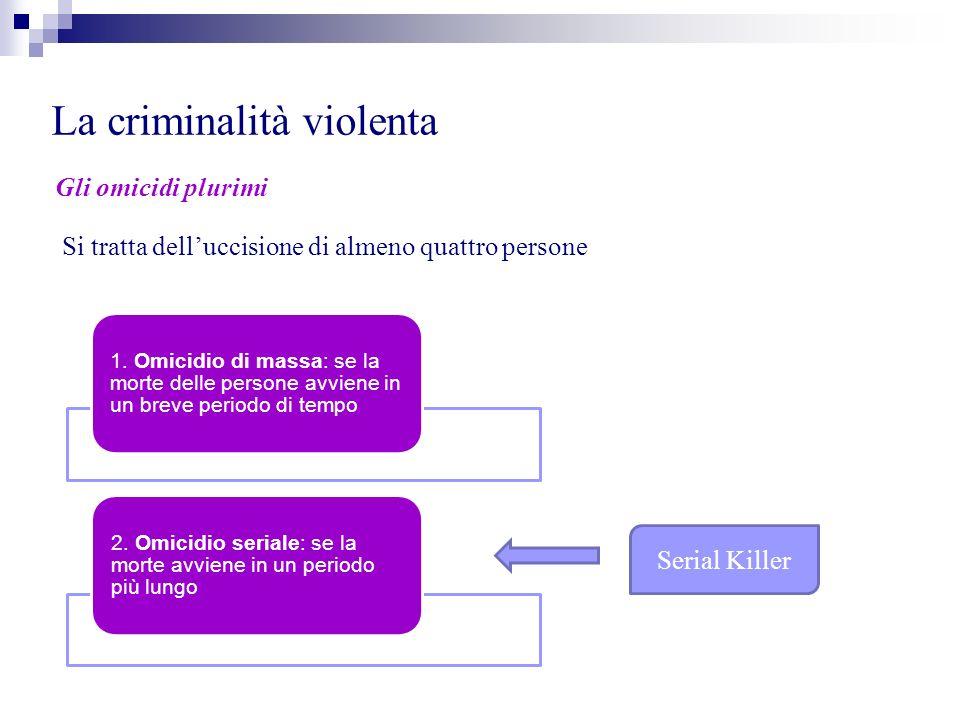 La criminalità violenta Gli omicidi di massa 1.