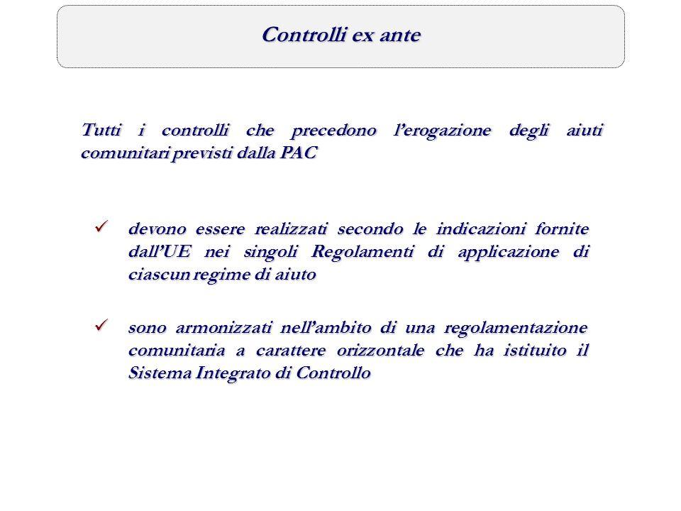Controlli ex post Riguardano i controlli a tutela del bilancio comunitario e sono diretti a verificare il corretto utilizzo dei fondi erogati dallUE (Reg.