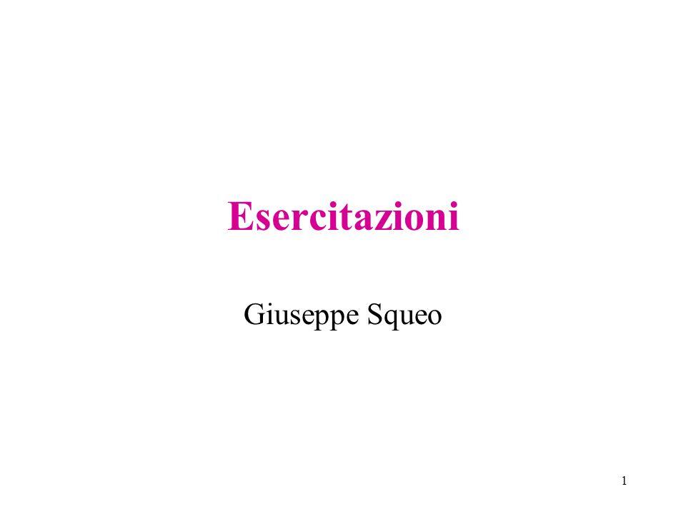 1 Esercitazioni Giuseppe Squeo