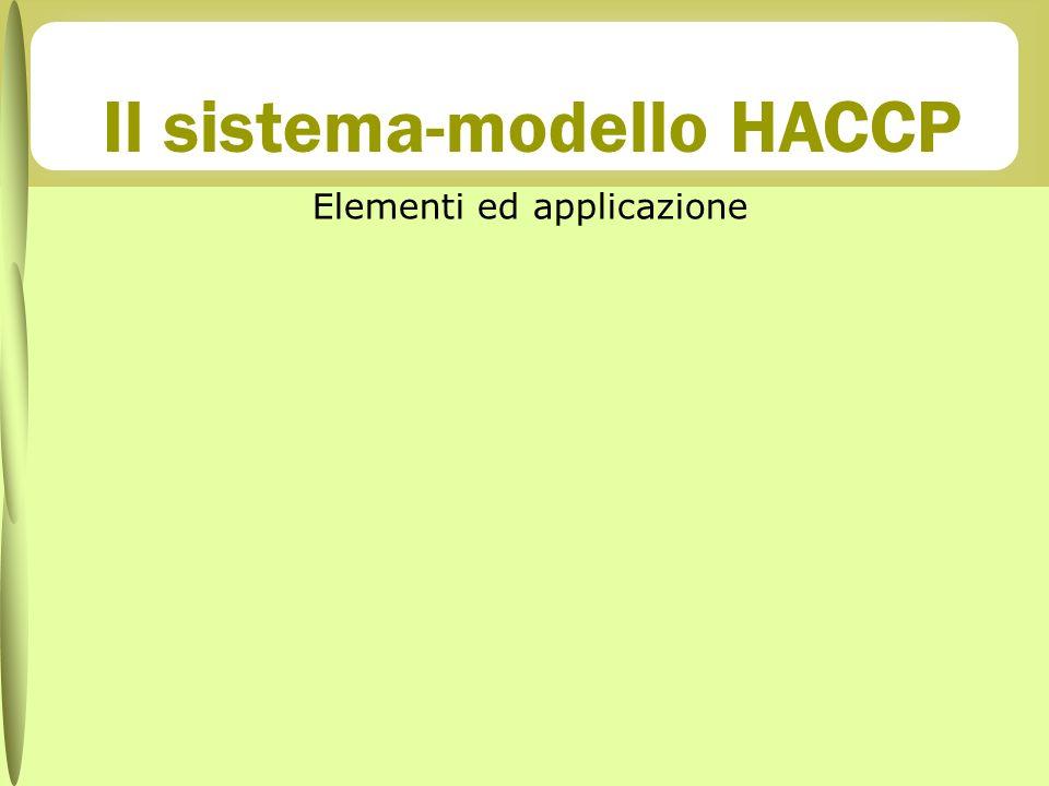 Il sistema-modello HACCP Elementi ed applicazione