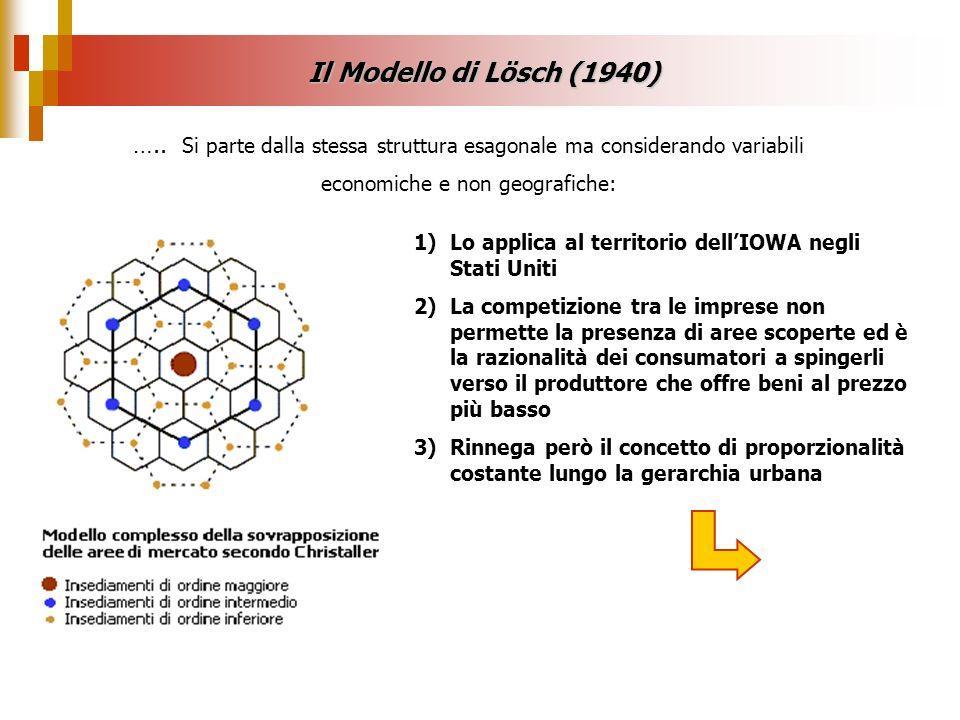 1)Lo applica al territorio dellIOWA negli Stati Uniti 2)La competizione tra le imprese non permette la presenza di aree scoperte ed è la razionalità d