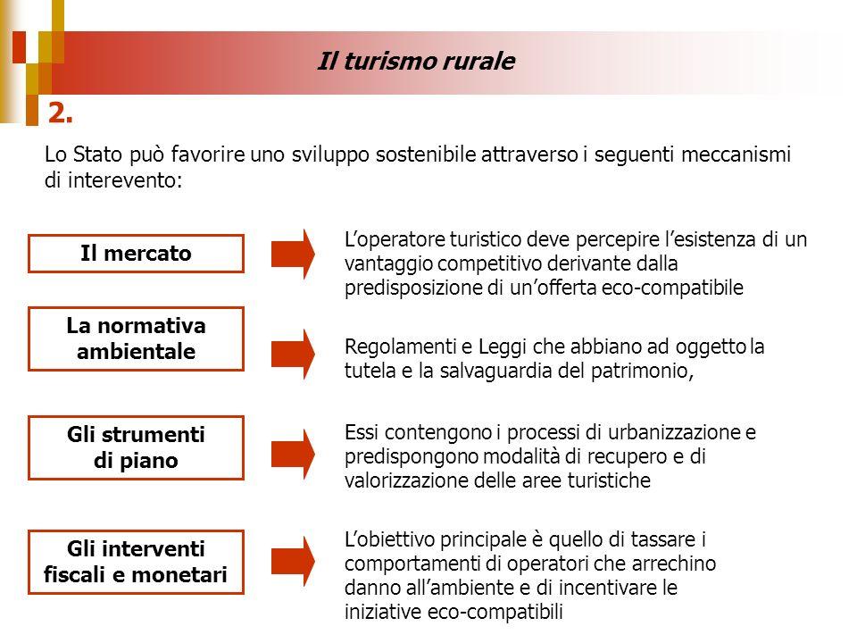 Lo Stato può favorire uno sviluppo sostenibile attraverso i seguenti meccanismi di interevento: Il mercato Gli strumenti di piano La normativa ambient