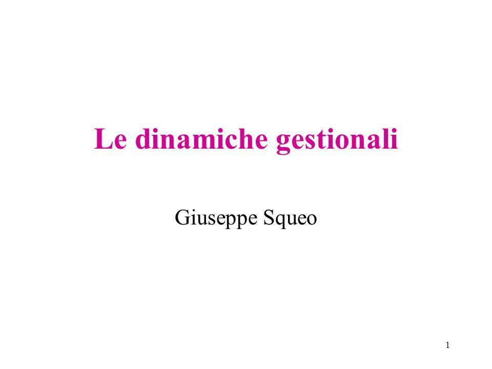 1 Le dinamiche gestionali Giuseppe Squeo
