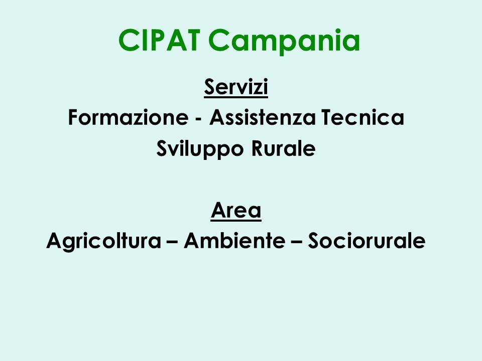 CIPAT Campania Servizi Formazione - Assistenza Tecnica Sviluppo Rurale Area Agricoltura – Ambiente – Sociorurale