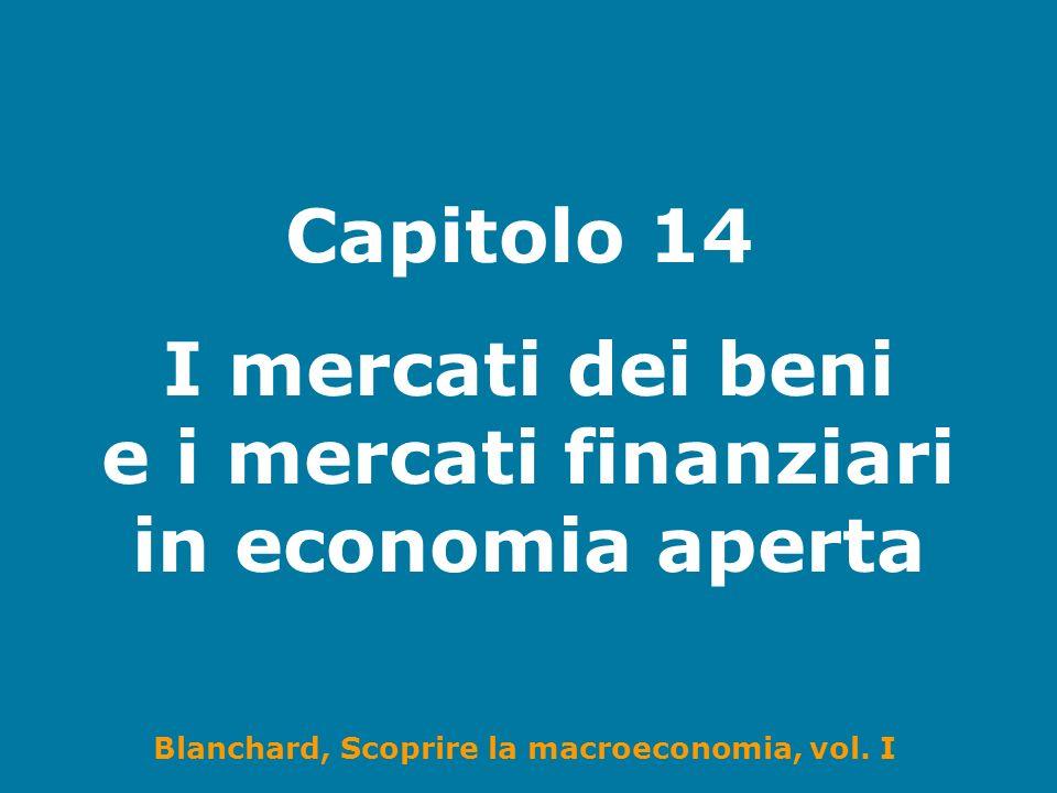 Blanchard, Scoprire la macroeconomia, vol. I Capitolo 14 I mercati dei beni e i mercati finanziari in economia aperta