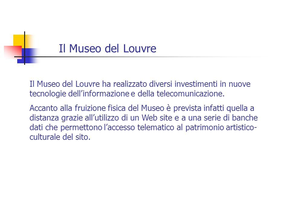 Il Museo del Louvre Il Museo del Louvre ha realizzato diversi investimenti in nuove tecnologie dellinformazione e della telecomunicazione. Accanto all