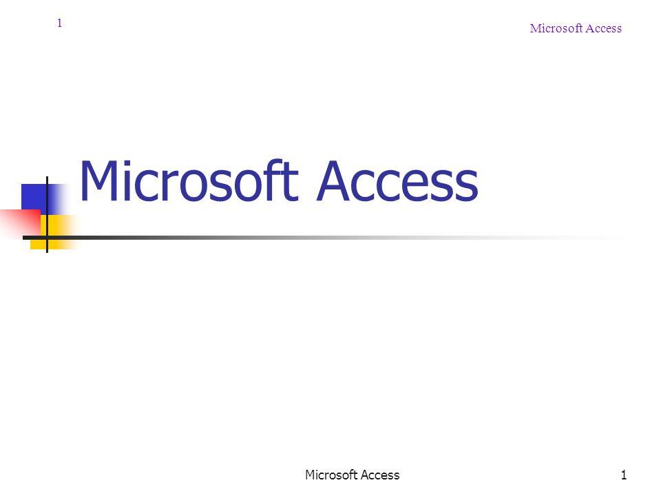 1 Microsoft Access 1