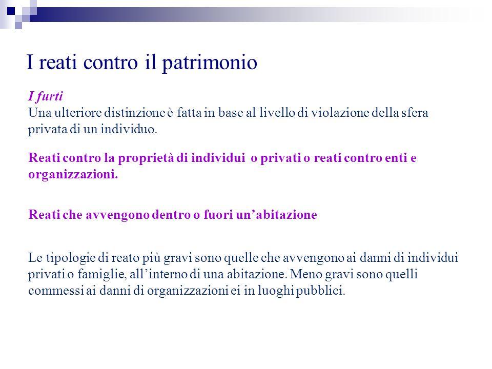 I reati contro il patrimonio La rapina È il caso più tipico di reato con interazione tra autore e vittima.