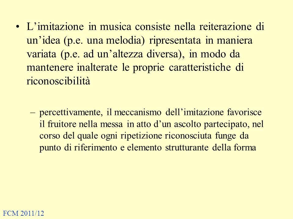 Limitazione in musica consiste nella reiterazione di unidea (p.e. una melodia) ripresentata in maniera variata (p.e. ad unaltezza diversa), in modo da