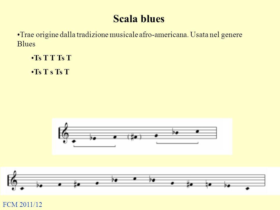 Scala blues Trae origine dalla tradizione musicale afro-americana.