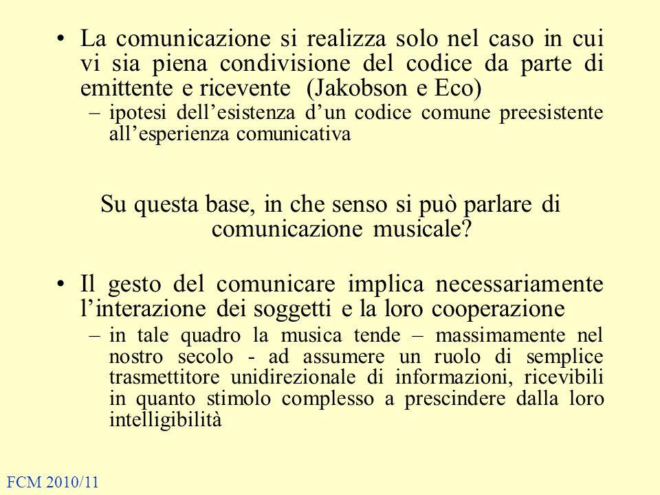 La comunicazione si realizza solo nel caso in cui vi sia piena condivisione del codice da parte di emittente e ricevente (Jakobson e Eco) –ipotesi del